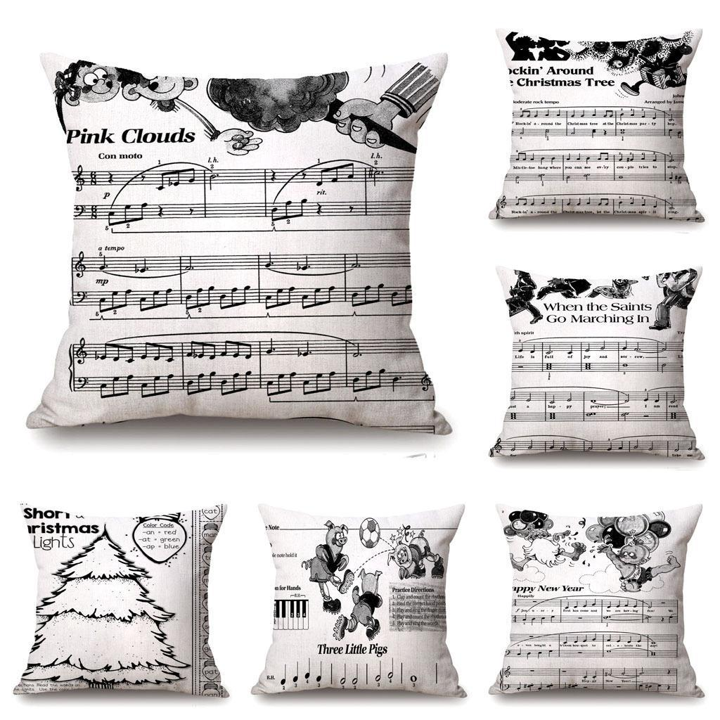f1cea89845d New Cotton Linen Guitar Printing Pillow Case Cushion Cover Hold Pillow  Decor Home Décor