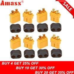 10 x Amass XT60 + Stecker Stecker Mit Mantel Gehäuse 5 Männlichen 5 Weibliche (5 para)