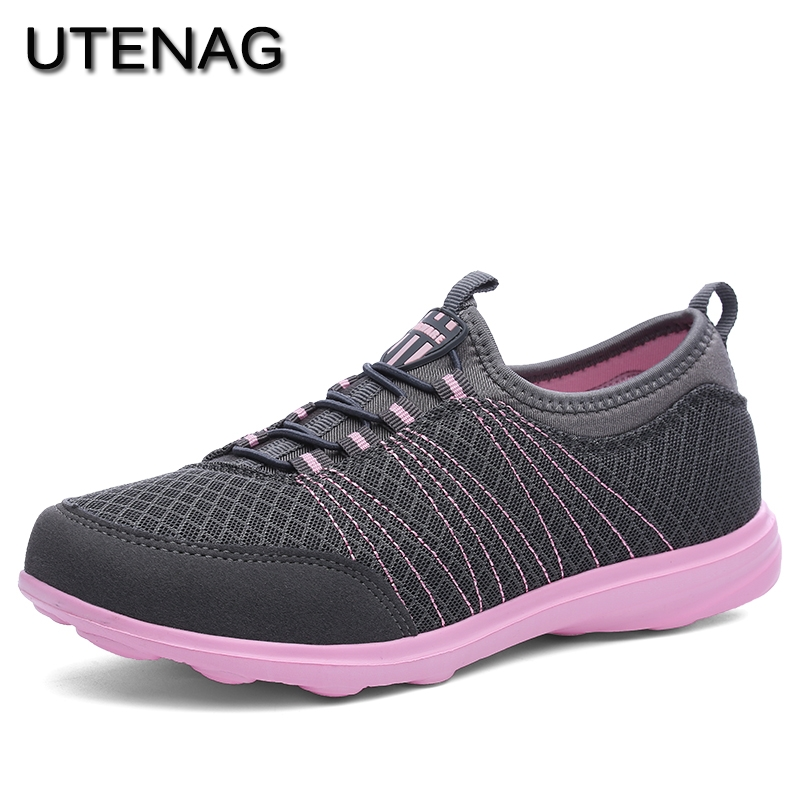 New Fashion Women Cool Breathable Comfortable Casual Shoes Design Style Popular Ladies Flat Bottom Sneakers Hot Sale 2018