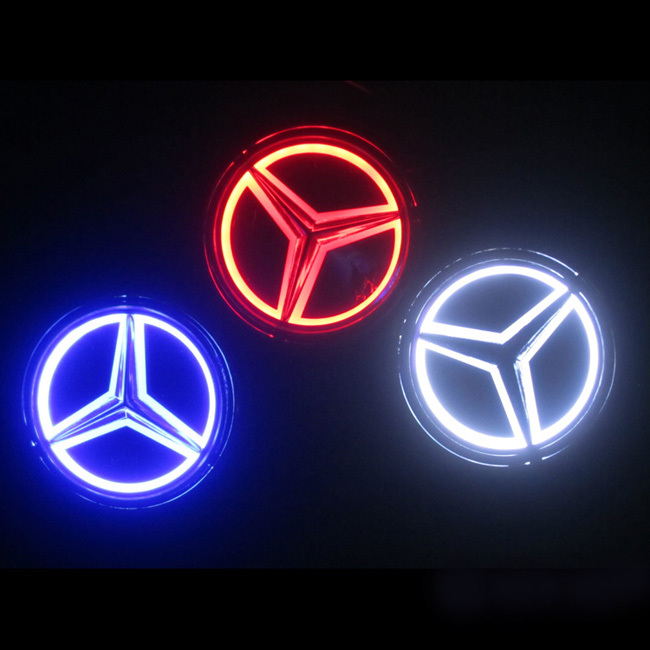 5d car logo light for mercedes benz series car badge light for Mercedes benz symbol light