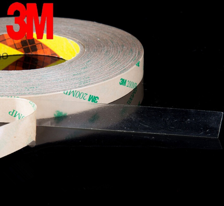 (5mm*55M) 3M 9495LE 300LSE Super Strong Double Sided Adhesive Tape Transparent for Phone Tablet Touch Screen Lens LCD Waterproof 50 meters roll 0 2mm thick 2mm 50mm choose super strong adhesive double sided sticky tape for cellphone tablet case screen