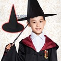 Halloween Black Witch Adult Hat Academy Costume Ball Magic Cosplay Hat for Party