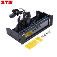 STW 4 Fans Speed Computer Fan Controller CPU Temperature Sensor Fans Cooling Drive Front LCD Panel