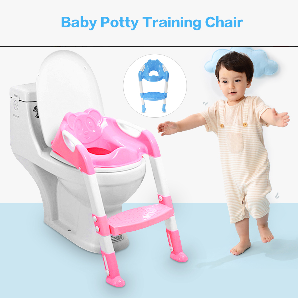 Baby Toddler Potty Toilet Trainer Safety Seat Chair Step with Adjustable Ladder Infant Toilet Training Non-slip Folding Seat myofunctional infant trainer phase ii hard oringal made in australia infant primary dentition trainer girls