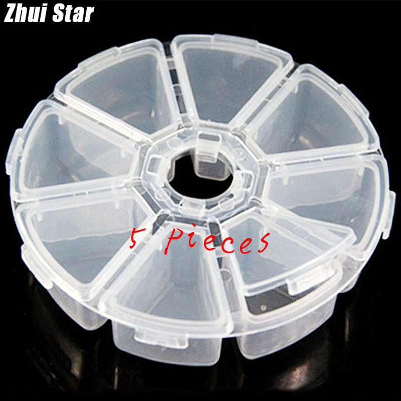 Diamond Painting Boxes Mini 8 Grids Rhinestone Gems Plastic Box Storage Box Case Jewelry Bead Makeup Clear Organizer Gift