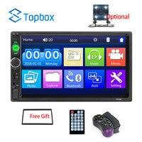 Topbox auto radio 2 din Car Radio 7 Inch Auto Radio Multimedia Player with Android Mirror link Support Steering Wheel Remote