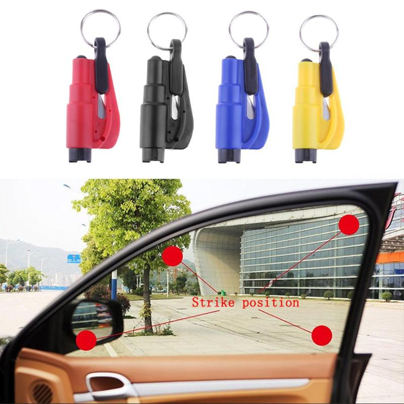 Llavero Seat Safety Hammer Auto Glass Car Window Breaker Life-Saving Escape Rescue Tool Seat Belt Cutter Keychain Marteau Hamer corta cinturon de seguridad