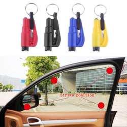 Llavero сиденье молоток безопасности авто Стекло молоток для разбивания стекла автомобиля Спасательные Побег Rescue Tool ремень брелок с ножом