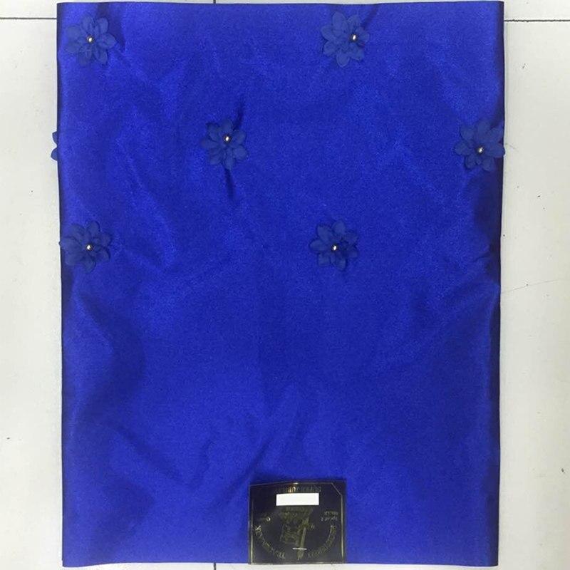 2 unids/set azul llano 3D flor con cuentas SEGO headtie headlele del gele del lazo con granos de alta calidad. QO261