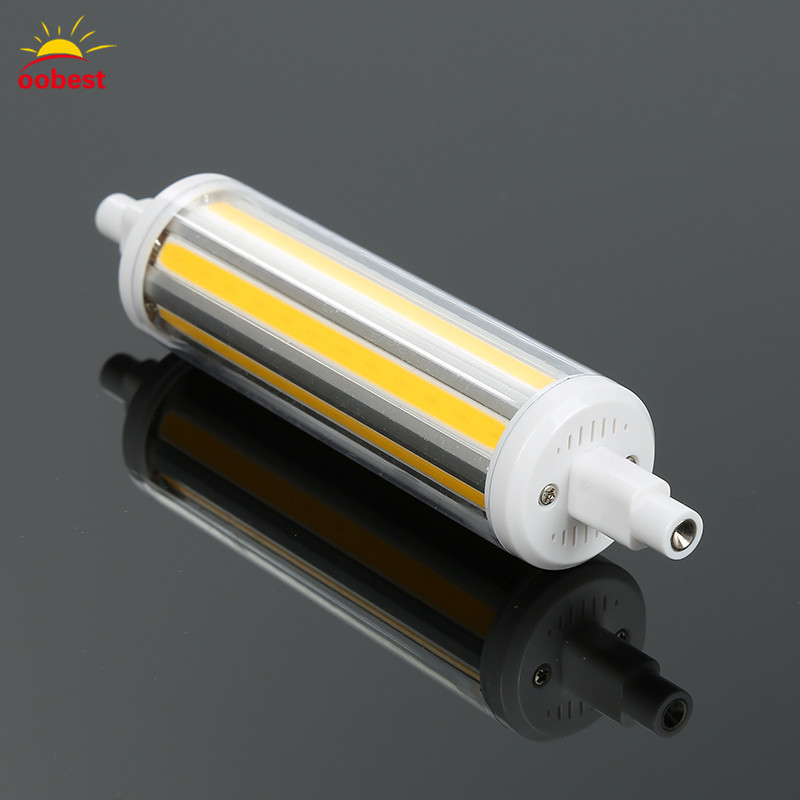 OOBEST 30W R7S COB LED Light 118mm Lamp 220V 110V Non-Dimmable SMD Light White Warm White Light Halogen Floodlight Replacement high power dimmable 189mm led r7s light 50w cob r7s led lamp with cooling fan replace 500w halogen lamp