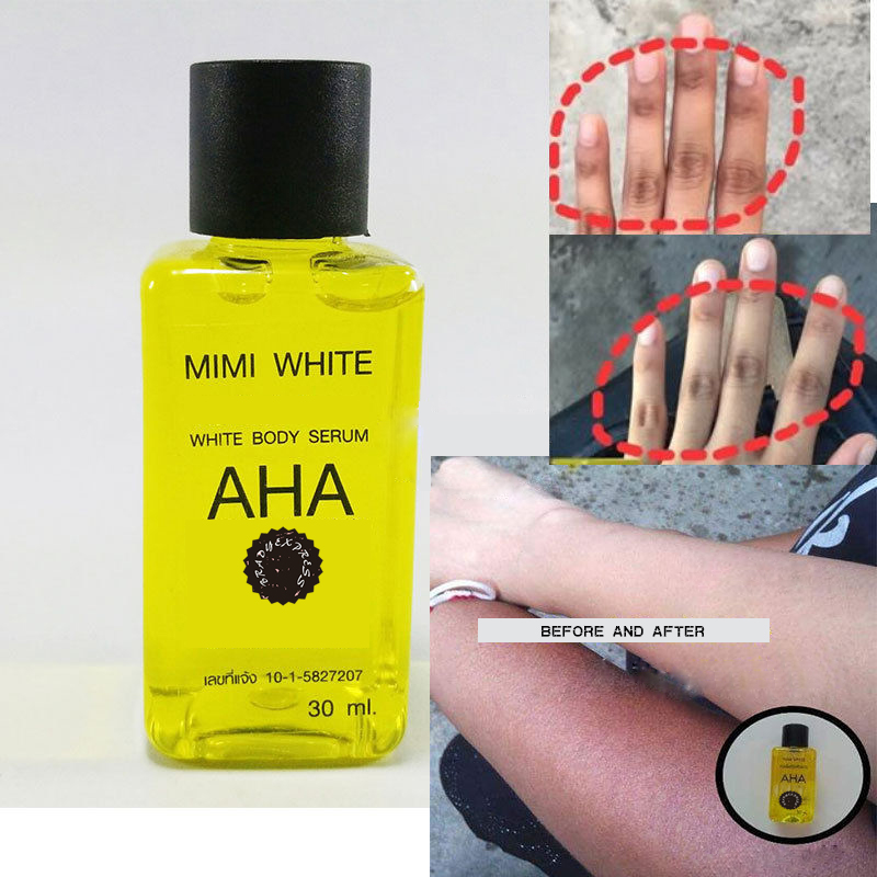 AHA + Vitamin C Dark Skin Mini Whitening Bleach Bleaching Mix Cream Lotion Free Shipping
