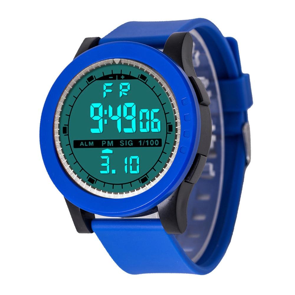 1PCS Simple men's silicone watch Luxury Men Digital Military Sport LED Waterproof Wrist Watch relojes para mujer 2018 A80 men s fashion led digital touch screen day date silicone wrist watch relojes para hombre orologi da uomo dignity 7 29