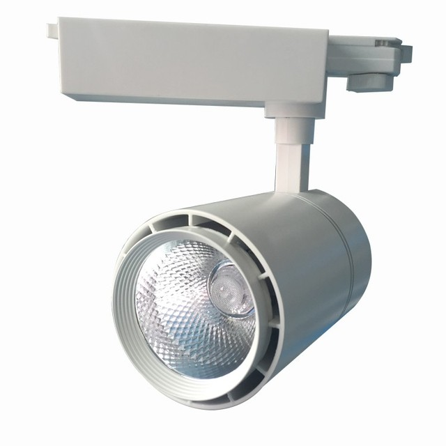 Aliexpress buy led track light cob 30w rail light cree chips led track light cob 30w rail light cree chips led spot tracking light ac85 265v aloadofball Image collections