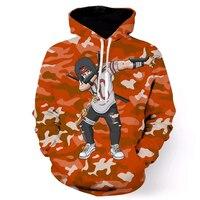 Classic Anime Naruto Uchiha Itachi Hooded Sweatshirts Men Women Orange Camo 3D Hoodies Pullovers Cool Hip