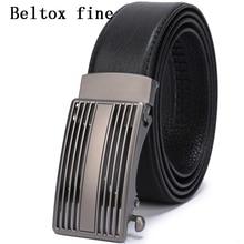 Leather Automatic Buckle Belts for Men Ratchet Belt Dress Designer Big and Tall Black Brown mens belts luxury cinturones mujer все цены