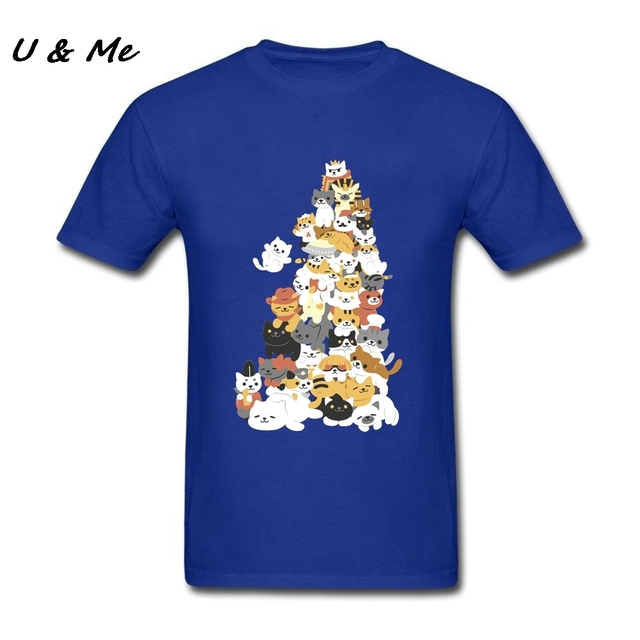 Asia Size Men Funky Tee Shirts Cats Summer Harajuku Toilette Party ...