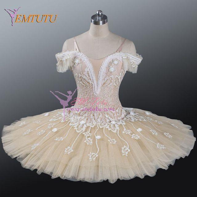 acb096c10 Adult Professional Ballet Tutu Cream Beige Fairy Doll Tutu Women ...