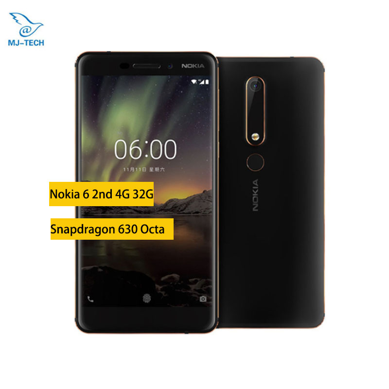 Nokia 6 2nd 2018 4GB 32GB TA 1054 Android Smartphone 5 5 inch Snapdragon 630 Octa
