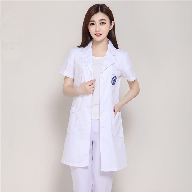 2017 Fashion Korea Style Female Short Sleeve Medical Lab Coats ...