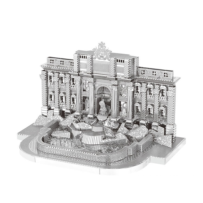 2018 new Nanyuan 3D Metal Puzzle Trevi Fountain Model DIY Laser Cut Assemble Jigsaw Toys Desktop decoration GIFT for adult new arrival gift kizhi church model metal collection diy assemble game toys for family children adult iq educational alloy item