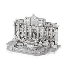 2018 new Nanyuan 3D Metal Puzzle Trevi Fountain Model DIY Laser Cut Assemble Jigsaw Toys Desktop decoration GIFT for adult