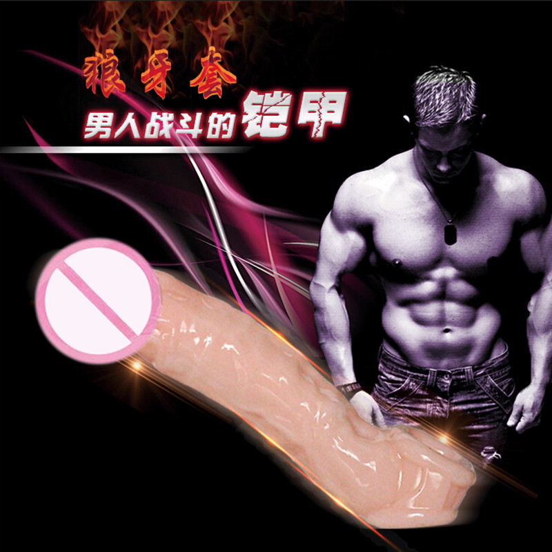 Adult Sex Products Medical Silicone Reusable Condoms Male Penis Lengthening Soft Sleeve