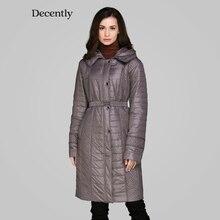 Decently 2015 New women winter coat Cotton Fashion Short Slim Warm Pocket Zipper Hooded  MC-5B7475