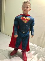 New High Quality Children Superman Cosplay Clothing Halloween Costume For Kids