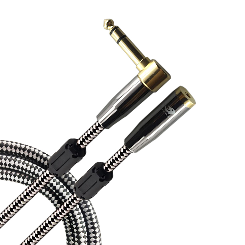 Premium Audio Cable Stereo 1/4 Angle L TRS Jack 6.35mm Male to 3.5mm 1/8 Female for PC Amplifier Cable 1M 2M 3M 5M 8M