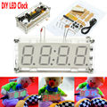 Free Shipping 3 Colors in stock DIY 0.8 Inch Digital Tube LED Electronic Clock Kit Red Blue Green LED