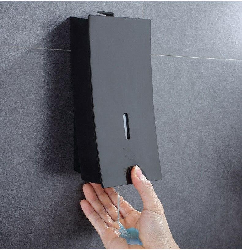 Bouteille De Savon liquide mur suspendus hôtel shampooing liquide de lavage bouteille boîte de lotion 450 ml noir tactile distributeur de savon liquide