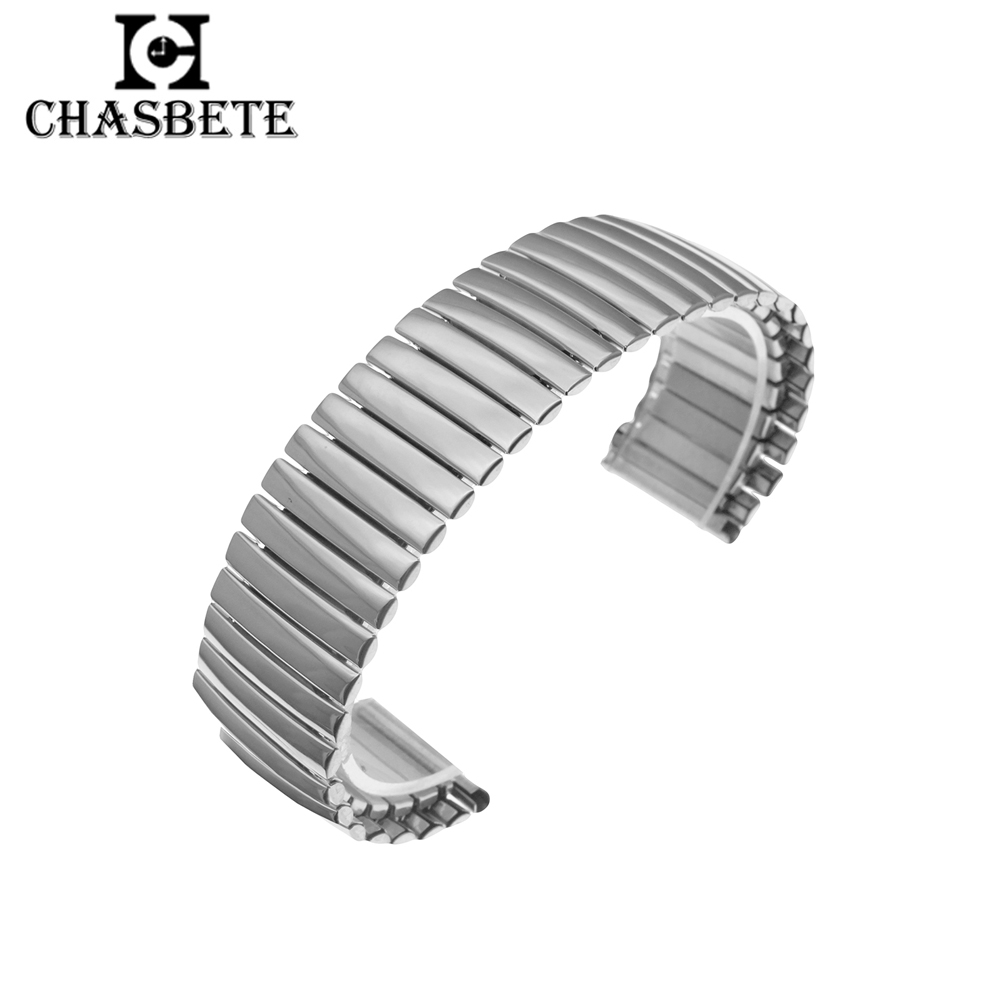 Stainless Steel Watch Band 12mm 14mm 16mm 18mm 20mm 22mm 24mm 26mm Metal Elastic Strap Belt Wrist Loop Bracelet Silver Black stainless steel watch band 26mm for garmin fenix 3 hr butterfly clasp strap wrist loop belt bracelet silver spring bar
