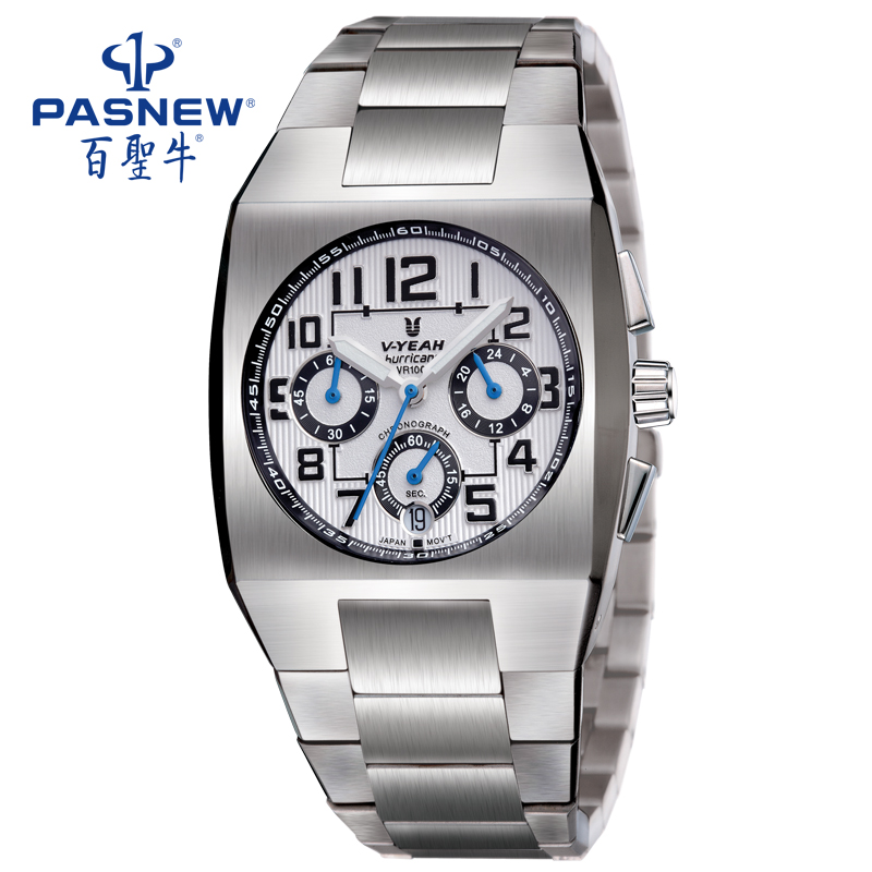 PASNEW Sapphire Stainless Steel Watch Band Waterproof Quartz Wristwatch with Japan movement for Gentleman VA1040GSSPASNEW Sapphire Stainless Steel Watch Band Waterproof Quartz Wristwatch with Japan movement for Gentleman VA1040GSS