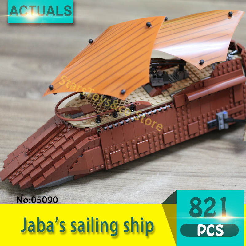 Lepin 05090 821Pcs Jaba's sailing ship Model Building Blocks Set  Bricks Toys For Children Gift Education 6210 8 in 1 military ship building blocks toys for boys