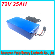 ebike lithium battery 72v 25ah lithium ion bicycle 72v electric scooter battery for kit electric bike 2500w with BMS , Charger