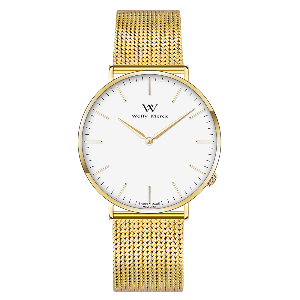 Welly Merck Men's Stainless Steel Strap Sapphire Crystal Business Watch цена и фото