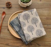 New Cotton And Linen Napkin Tea Towel Small Tree Pattern Double Placemat 40 30cm Aesthetic Elements