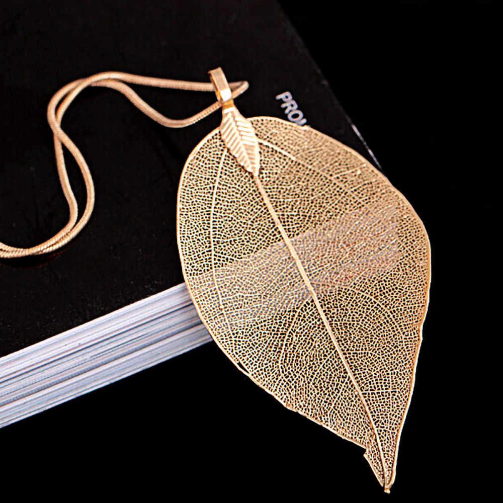 2019 свитер пальто ожерелье s дамы девушки Специальные Листья Лист Подвеска на свитер ожерелье украшение на длинной цепочке для женщин bijou подарок