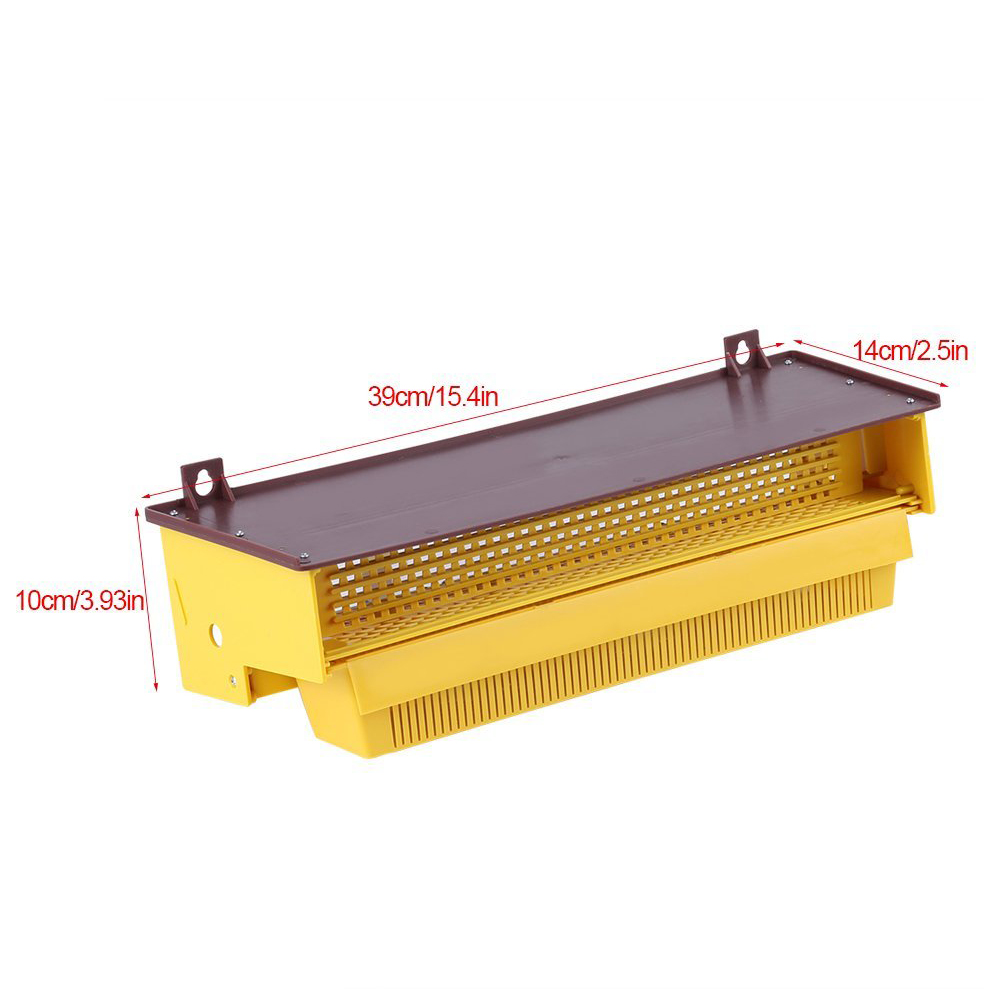 NOCM-Beekeeping Plastic Pollen Trap Yellow with Removable Ventilated Pollen Tray Pollen Collector Supplies Tools, 39 x 14 x 10NOCM-Beekeeping Plastic Pollen Trap Yellow with Removable Ventilated Pollen Tray Pollen Collector Supplies Tools, 39 x 14 x 10