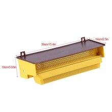 NOCM-Beekeeping Plastic Pollen Trap Yellow مع أدوات إزالة جامع حبوب اللقاح القابلة للتهوية القابلة للإزالة ، 39 × 14 × 10