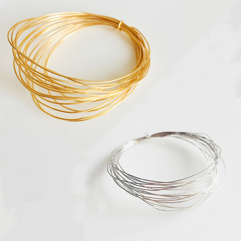 0.2-1mm Gold Silver Plated High-quality Cord String Thread Wire Jewelry Making