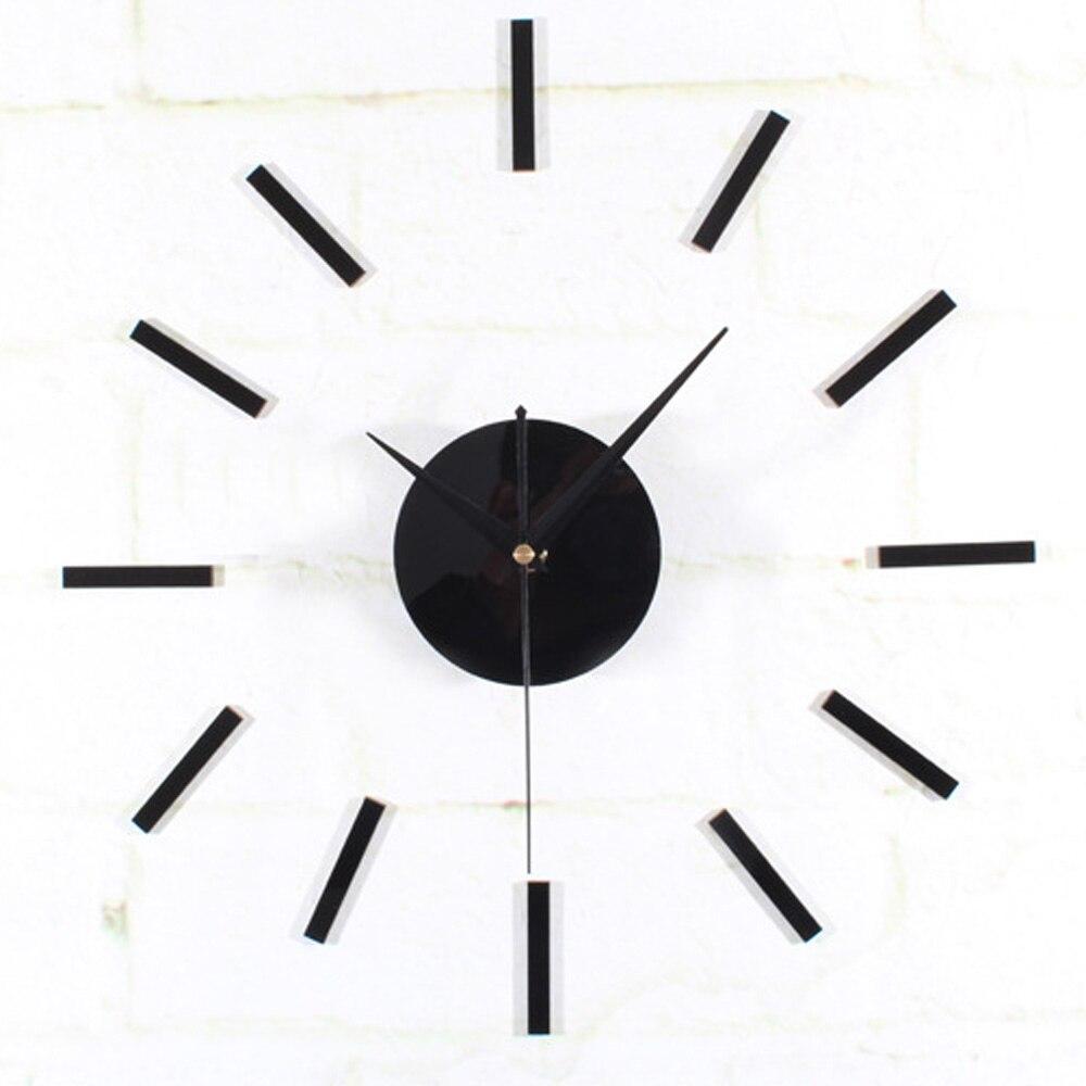Modern Simple Strips Design Creative Wall Clock 3D DIY Elegant ...