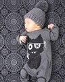 Nuevo Otoño de la manera ropa del bebé de manga larga mamelucos del bebé recién nacido bebé mono de la ropa de algodón ropa infantil