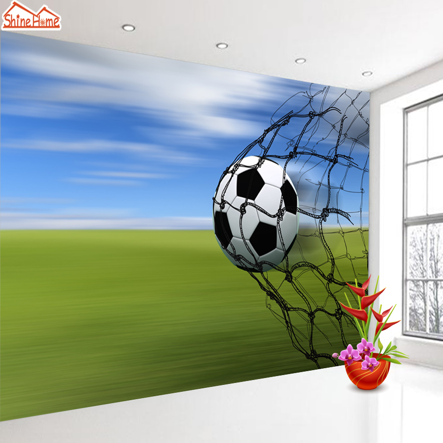 ShineHome-Large Custom 3D Photo Wallpaper Football Field Soccer Wallpapers for 3 d Living Room Cafe Bar Household Wall Paper Art shinehome abstract brick black white polygons background wallpapers rolls 3 d wallpaper for livingroom walls 3d room paper roll