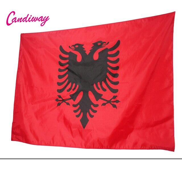 Флаг Албании двуглавый орел открытый баннер для интерьера ALBANIAN Arms 90*150 см Национальный флаг парад/Фестиваль/украшение дома