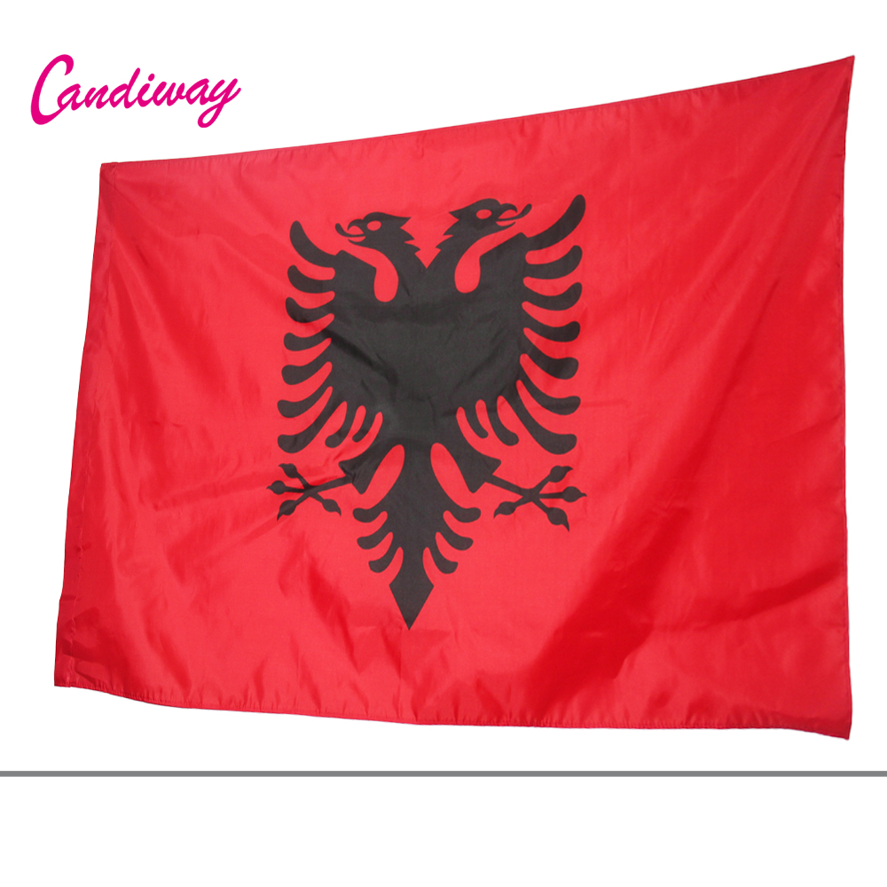 Albania Flag Double Headed Eagle OUTDOOR INDOOR BANNER ALBANIAN Arms 90*150cm National Flag parade/Festival/Home Decoration