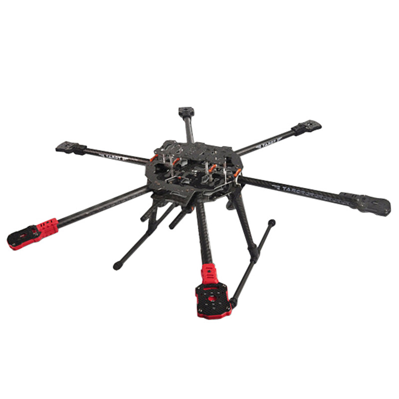 High Quality Tarot FY690S Full 6 Axis Folding Rack Carbon Fiber Frame TL68C01 For Multirotor Multicopter Drone DIY Parts Accs jmt j510 510mm carbon fiber 4 axis foldable rack frame kit with high tripod for diy helicopter rc airplane aircraft spare parts