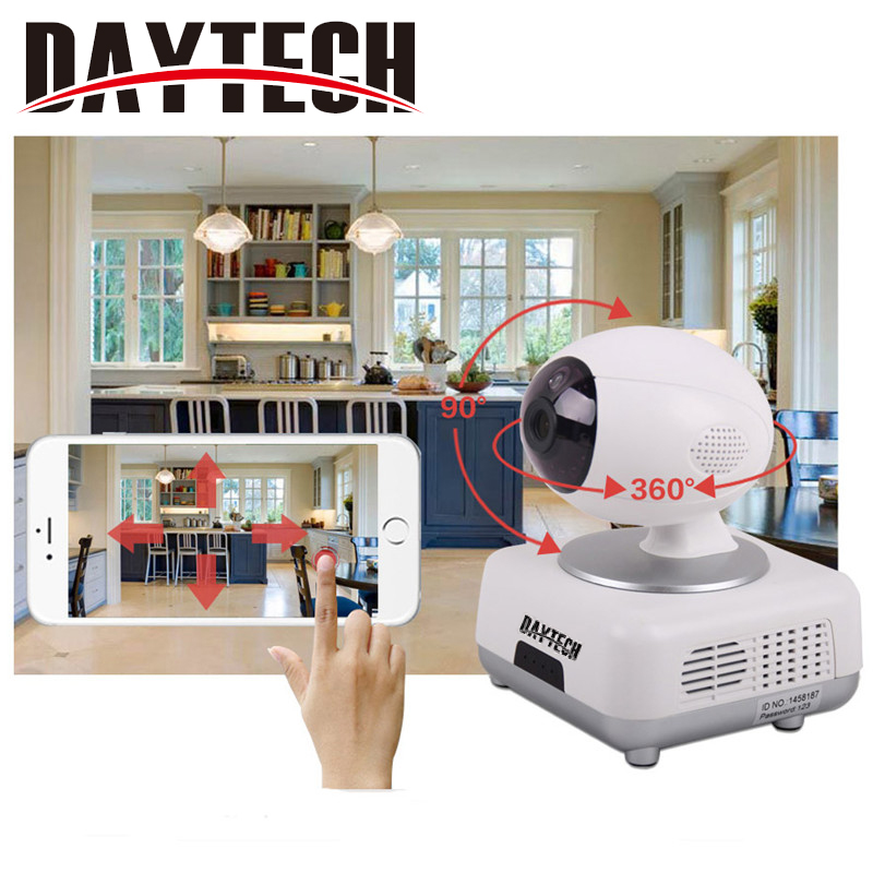Daytech Wifi IP Camera 720P Wi-fi Security Camera Wireless Two Way Audio Night Vision Infrared IR-Cut Night Vision sacam 720p wifi wireless ip camera with two way audio ir cut night vision video onvif p2p network webcam for home security alarm