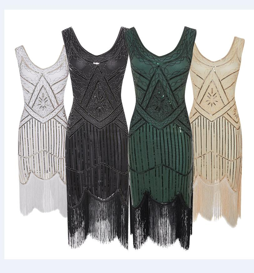xs-2xl sequin fringe Flapper 1920s Gangster Gatsby Charleston Deluxe Sequin Women Costume