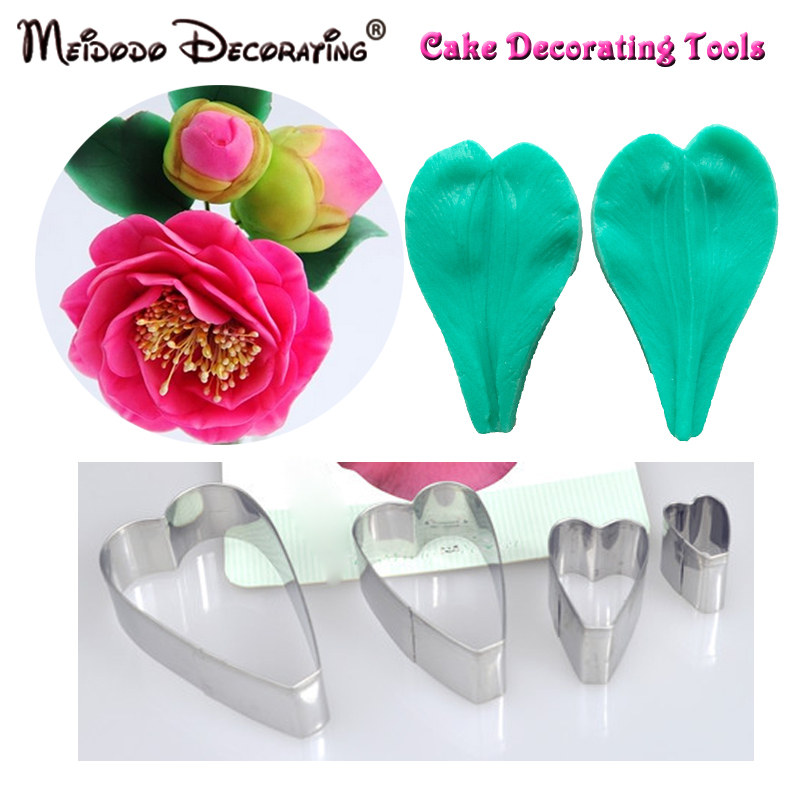 Novi prihod Camellia Flower Veiner Mould Fondant Torta za okrasitev - Kuhinja, jedilnica in bar